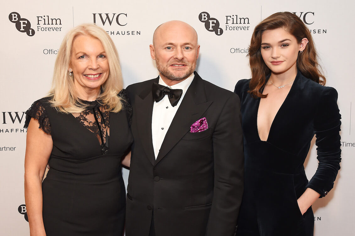 LONDON, ENGLAND - OCTOBER 04: (L to R) Amanda Nevill, BFI CEO, Georges Kern, IWC CEO, and Sai Bennett attend the IWC Schaffhausen Dinner in Honour of the BFI at Rosewood London on October 4, 2016 in London, England. (PPR/IWC/Dave Benett)